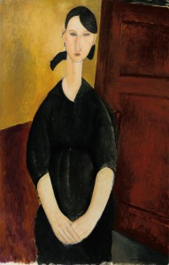 "Amedeo Modigliani's ""Portrait de Paulette Jourdain,"" circa 1919, also estimated to bring $25 million to $35 million. Credit Sotheby's"